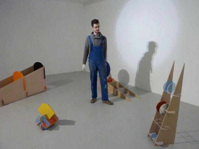 Installation dans l'espace d'exposition, février 2013